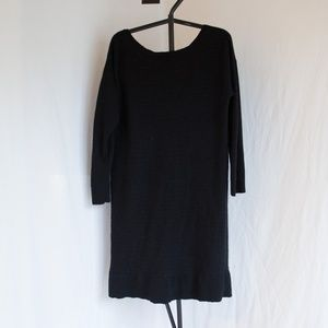 Banana Republic Black Wool Sweater Dress XL